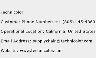Technicolor Phone Number Customer Service