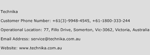 Technika Phone Number Customer Service