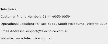 Telechoice Phone Number Customer Service