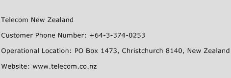 Telecom New Zealand Phone Number Customer Service