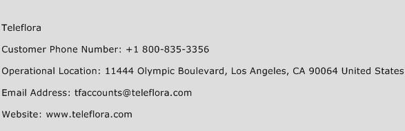 Teleflora Phone Number Customer Service