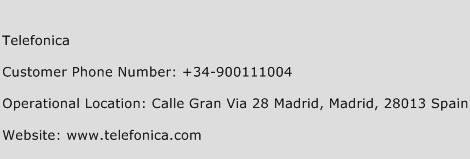Telefonica Phone Number Customer Service