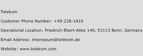 Telekom Phone Number Customer Service