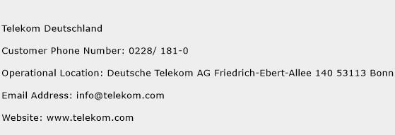Telekom Deutschland Phone Number Customer Service