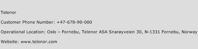 Telenor Phone Number Customer Service