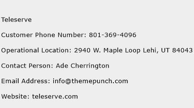 Teleserve Phone Number Customer Service