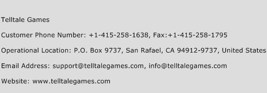 Telltale Games Phone Number Customer Service
