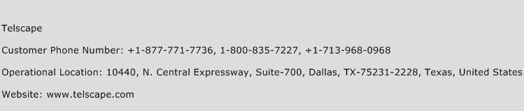 Telscape Phone Number Customer Service
