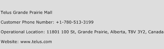 Telus Grande Prairie Mall Phone Number Customer Service