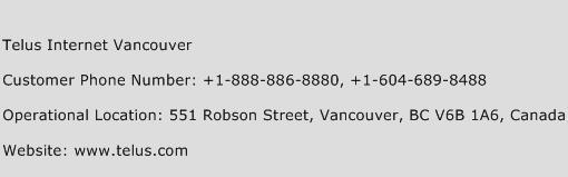 Telus Internet Vancouver Phone Number Customer Service