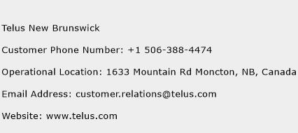 Telus New Brunswick Phone Number Customer Service