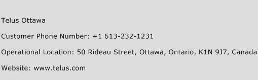Telus Ottawa Phone Number Customer Service