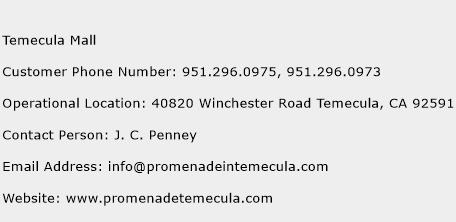 Temecula Mall Phone Number Customer Service