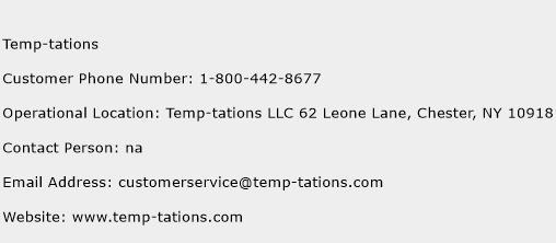 Temp-tations Phone Number Customer Service