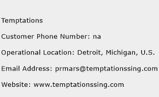 Temptations Phone Number Customer Service