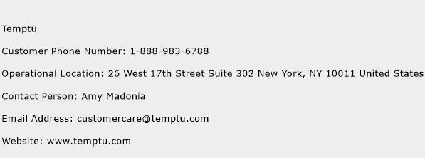 Temptu Phone Number Customer Service