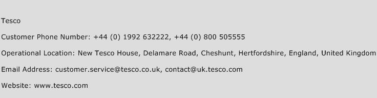 Tesco Phone Number Customer Service