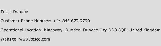 Tesco Dundee Phone Number Customer Service