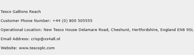 Tesco Gallions Reach Phone Number Customer Service