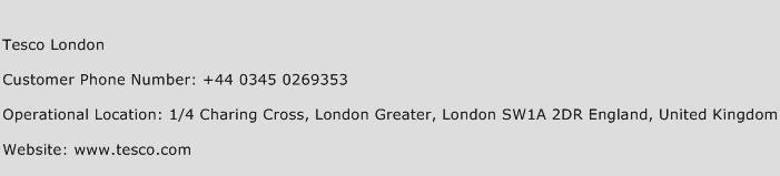 Tesco London Phone Number Customer Service