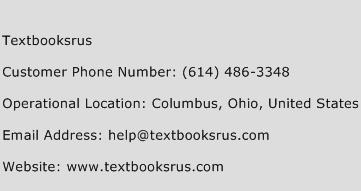 Textbooksrus Phone Number Customer Service