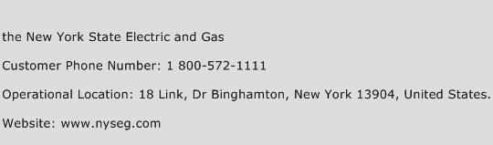 The New York State Electric and Gas Phone Number Customer Service