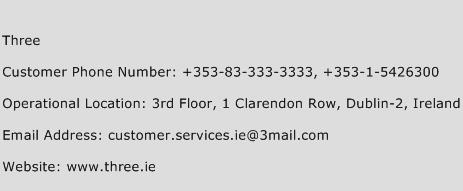 Three Phone Number Customer Service