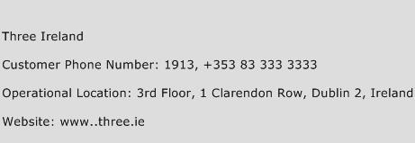 Three Ireland Phone Number Customer Service