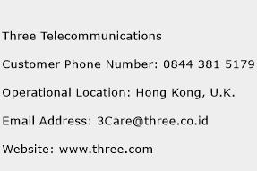 Three Telecommunications Phone Number Customer Service