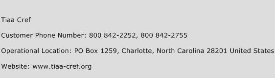 Tiaa Cref Phone Number Customer Service