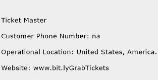 Ticket Master Phone Number Customer Service