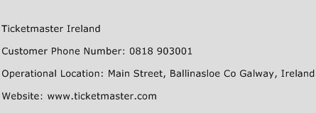 Ticketmaster Ireland Phone Number Customer Service