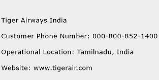 Tiger Airways India Phone Number Customer Service