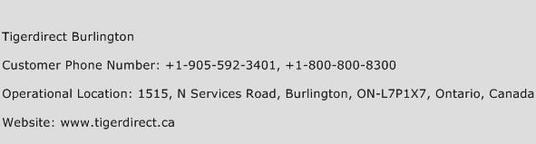 Tigerdirect Burlington Phone Number Customer Service