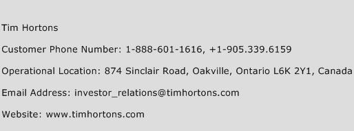 Tim Hortons Customer Service Phone Number Contact Number