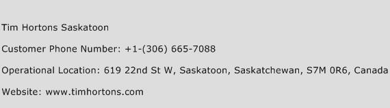 Tim Hortons Saskatoon Phone Number Customer Service