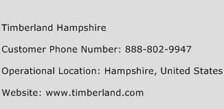 Timberland Hampshire Phone Number Customer Service