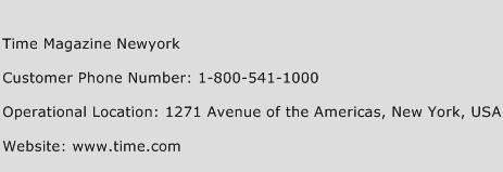 Time Magazine Newyork Phone Number Customer Service