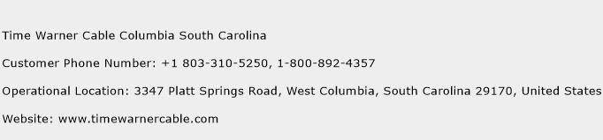 Time Warner Cable Columbia South Carolina Number Time Warner Cable