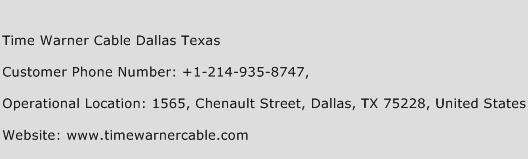 Time Warner Cable Dallas Texas Phone Number Customer Service
