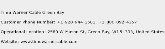 Time Warner Cable Green Bay Phone Number Customer Service