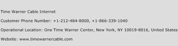 Time Warner Cable Internet Phone Number Customer Service