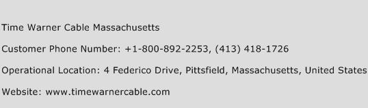 Time Warner Cable Massachusetts Phone Number Customer Service