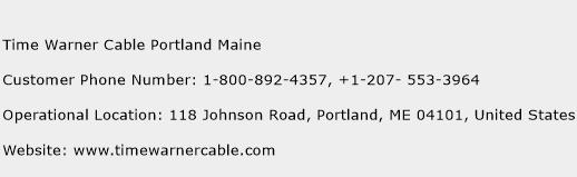 Time Warner Cable Portland Maine Phone Number Customer Service