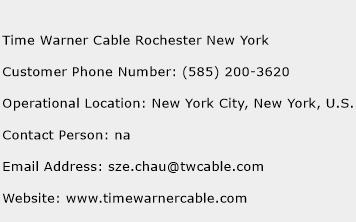 Time Warner Cable Rochester New York Phone Number Customer Service