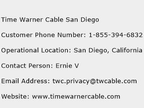 Time Warner Cable San Diego Number Time Warner Cable San