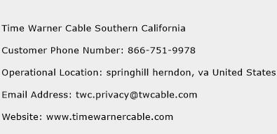 Time Warner Cable Southern California Phone Number Customer Service