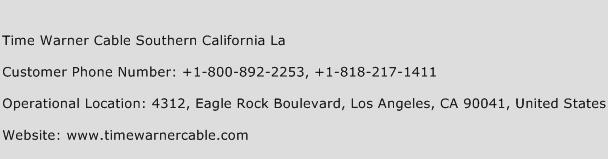 Time Warner Cable Southern California La Phone Number Customer Service