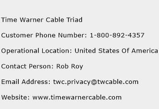 Time Warner Cable Triad Phone Number Customer Service