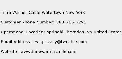 Time Warner Cable Watertown New York Phone Number Customer Service